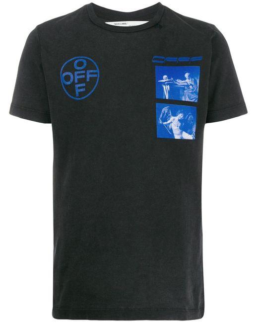 メンズ Off-White c/o Virgil Abloh Caravaggio Tシャツ Black