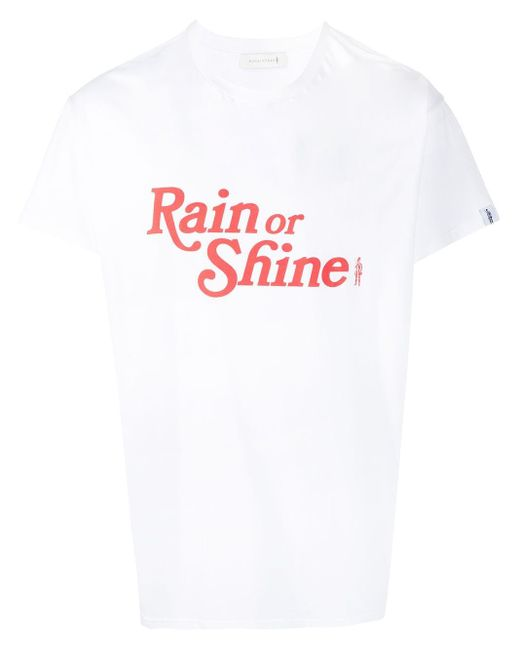 メンズ Mackintosh Rain Or Shine Tシャツ White