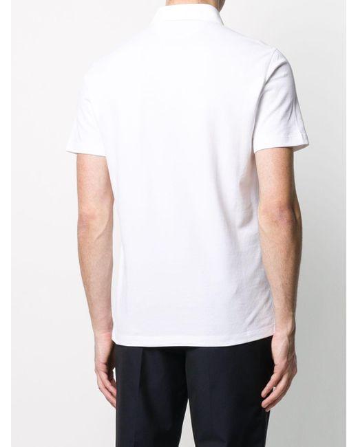 Однотонная Рубашка-поло Brunello Cucinelli для него, цвет: White