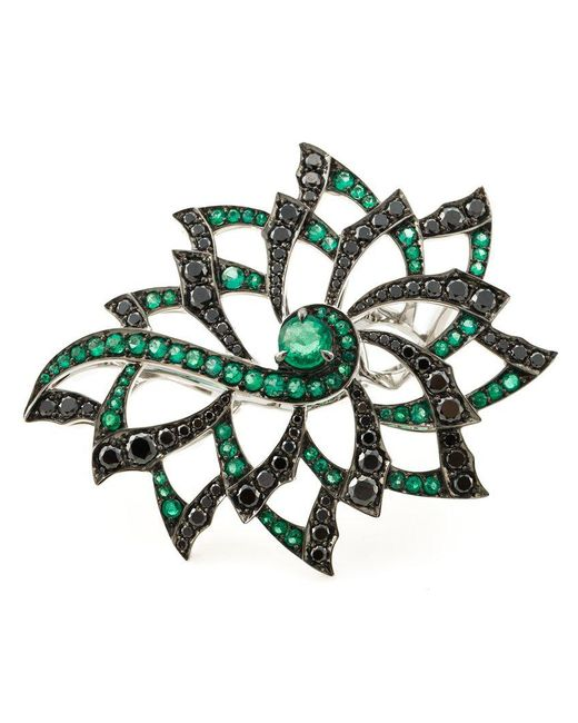Stephen Webster | Metallic Diamond Flower Ring | Lyst