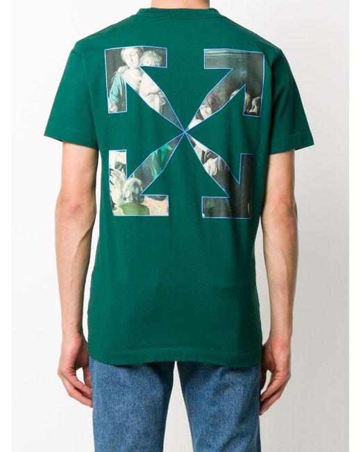メンズ Off-White c/o Virgil Abloh Caravaggio Tシャツ Green
