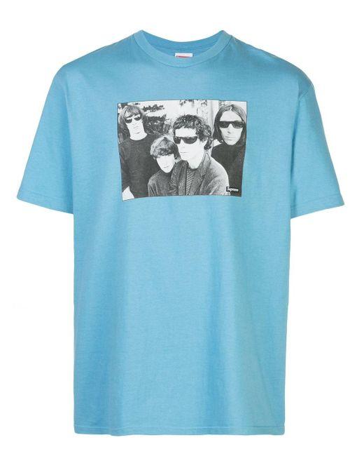 メンズ Supreme The Velvet Underground Tシャツ Blue