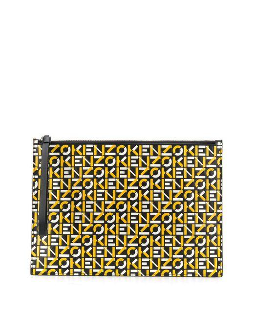 KENZO ロゴ クラッチバッグ Yellow
