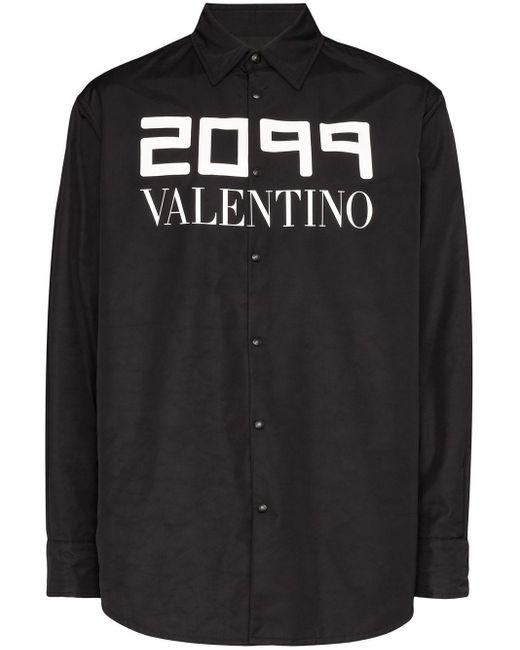 メンズ Valentino 2099 シャツジャケット Black