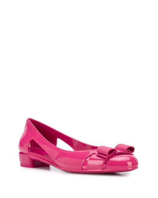 Ferragamo ヴァラ パンプス Pink