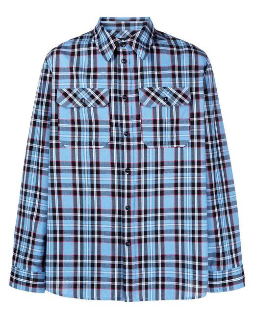 メンズ A.P.C. チェック シャツ Blue