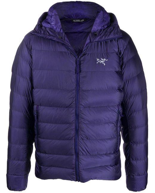 Пуховик Cerium С Капюшоном Arc'teryx для него, цвет: Purple
