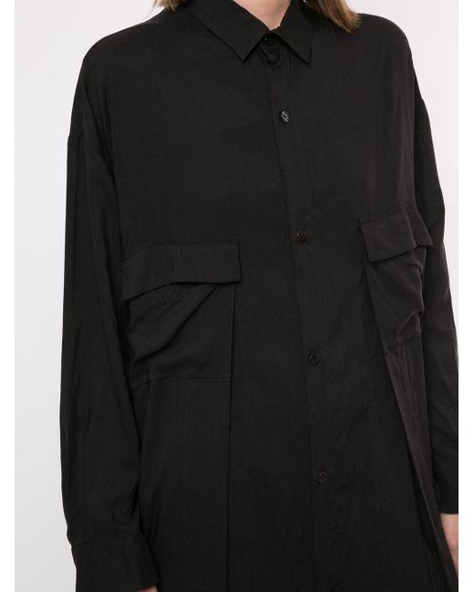 Yohji Yamamoto ロングライン シャツ Black