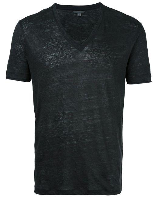メンズ John Varvatos Vネックtシャツ Black