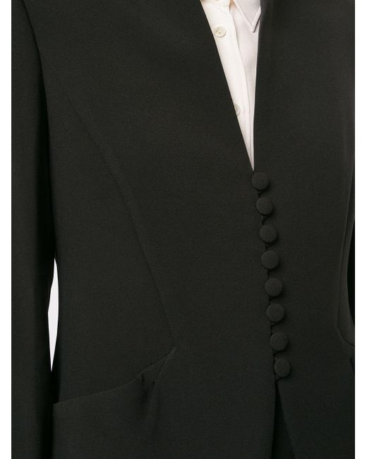 Emporio Armani ノーカラー ジャケット Black