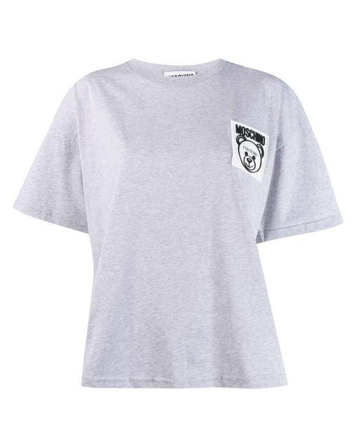 Moschino テディベア パッチ Tシャツ White