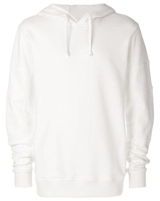 Comme des Garçons - White Oversized Hooded Sweatshirt for Men - Lyst