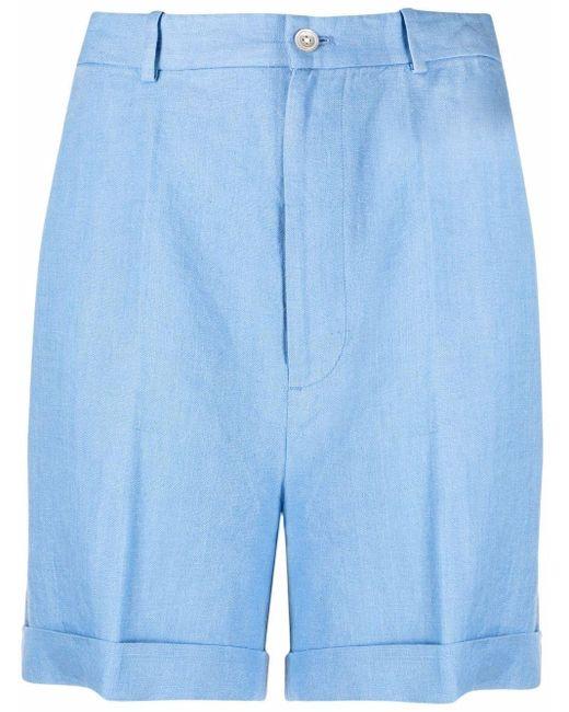 Polo Ralph Lauren リネン ストレートショートパンツ Blue