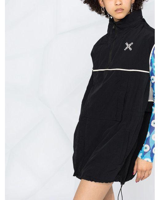 KENZO ロゴ パーカーワンピース Black