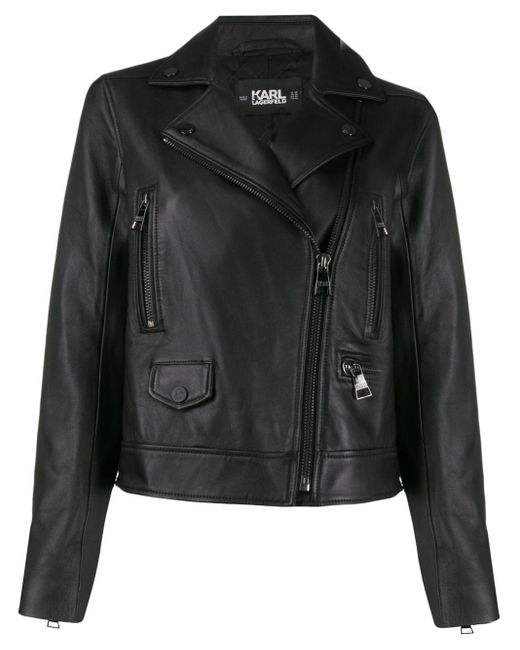 Karl Lagerfeld Ikonik ライダースジャケット Black