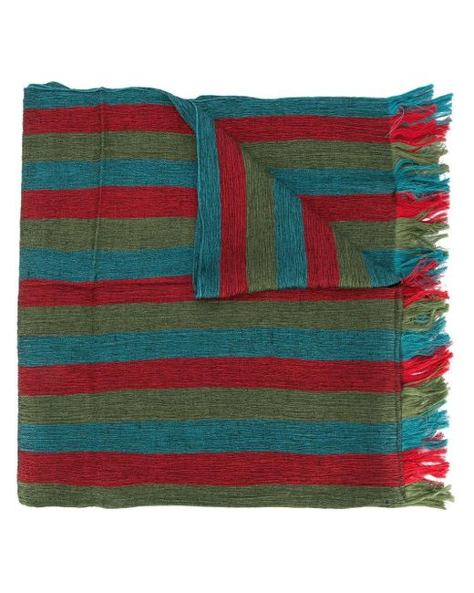 Issey Miyake ストライプ スカーフ Multicolor