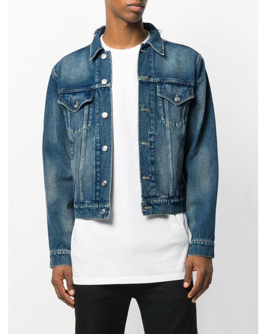 89f10454 ... Balenciaga - Blue Classic Denim Jacket for Men - Lyst ...