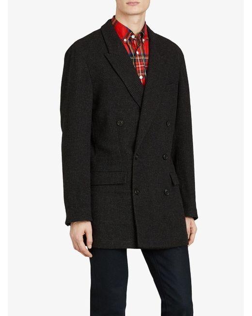 Veste à motif Prince de Galles Burberry pour homme en coloris Gray