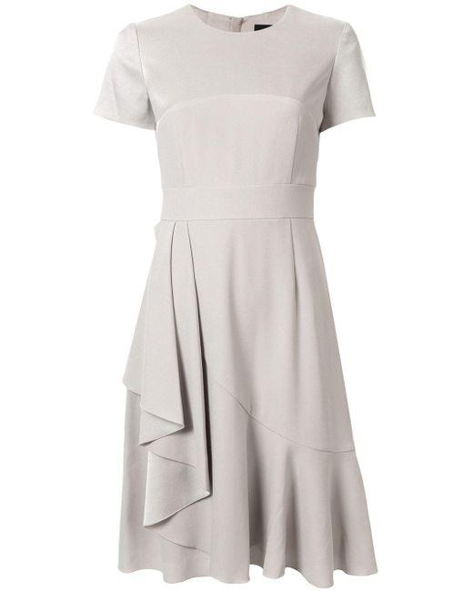 Paule Ka スリムフィット ドレープ ドレス Multicolor