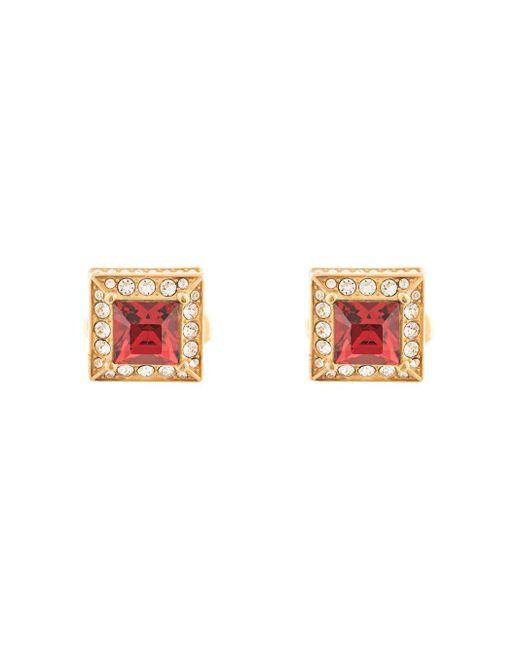 メンズ Dolce & Gabbana ラインストーン カフスボタン Multicolor