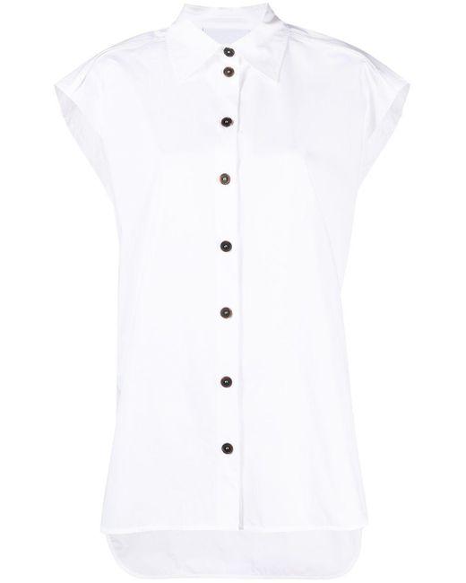 Erika Cavallini Semi Couture ノースリーブ ロングシャツ White