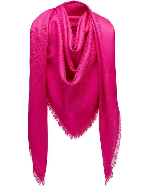 Fendi モノグラム スカーフ Pink