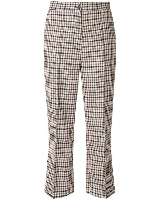 Erika Cavallini Semi Couture | Multicolor Plaid Cropped Trousers | Lyst