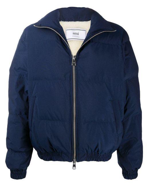 メンズ AMI ハイネック パデッドジャケット Blue