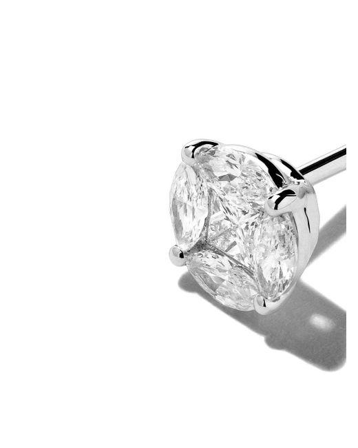 AS29 Mye ダイヤモンドピアス 18kホワイトゴールド Metallic
