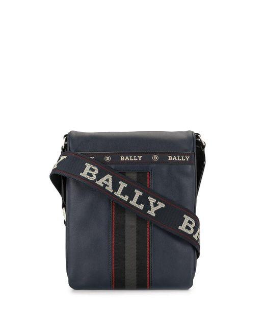 メンズ Bally ロゴ メッセンジャーバッグ Blue