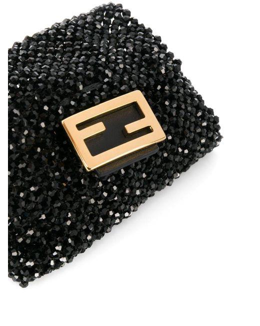 Сумка Мини С Бусинами Fendi, цвет: Black