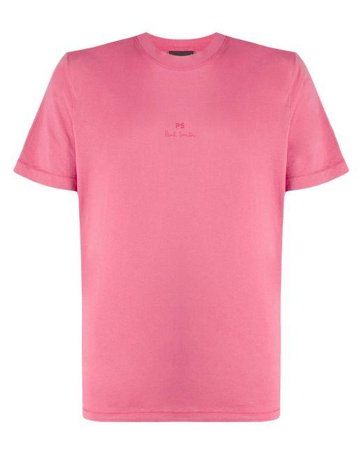 メンズ PS by Paul Smith ロゴ Tシャツ Pink