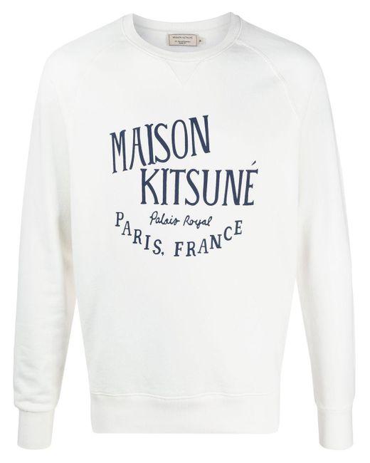メンズ Maison Kitsuné ロゴ スウェットシャツ White