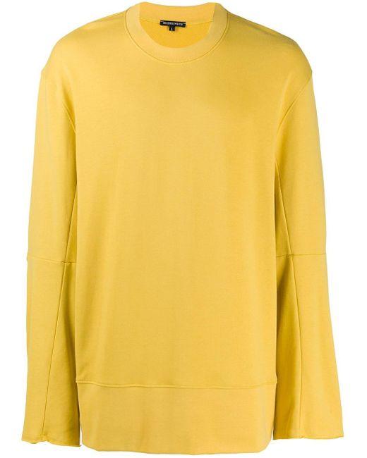 メンズ Ann Demeulemeester ボクシースウェットシャツ Yellow