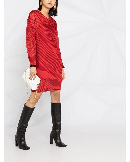 Missoni ストライプ ニットドレス Red
