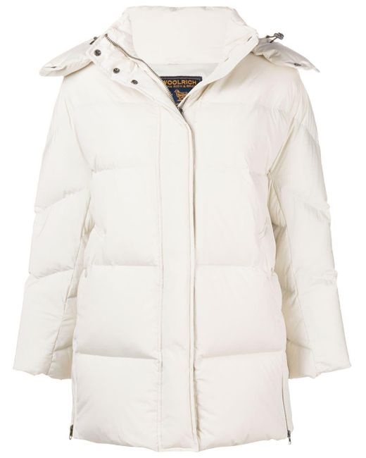 Woolrich White Padded Down Jacket