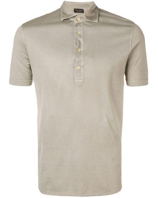 メンズ Dell'Oglio スリムフィット ポロシャツ Gray