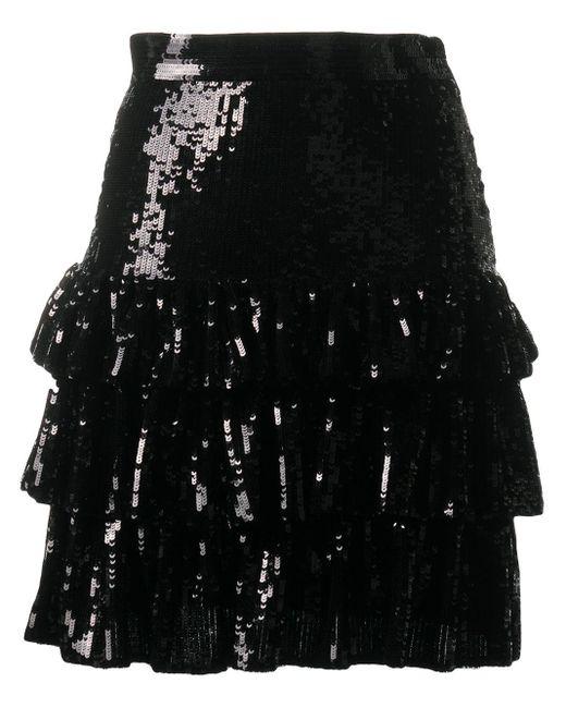MSGM スパンコール ミニスカート Black