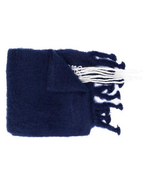 Loewe ロングニットスカーフ Blue