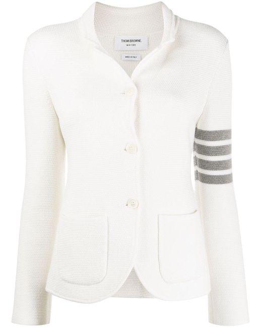 Thom Browne 4bar メリノウールジャケット White