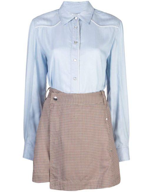 Robe-chemise à design superposé 10 Crosby Derek Lam en coloris Blue