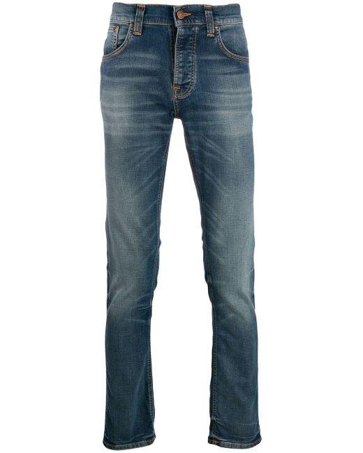 メンズ Nudie Jeans ストレートジーンズ Blue