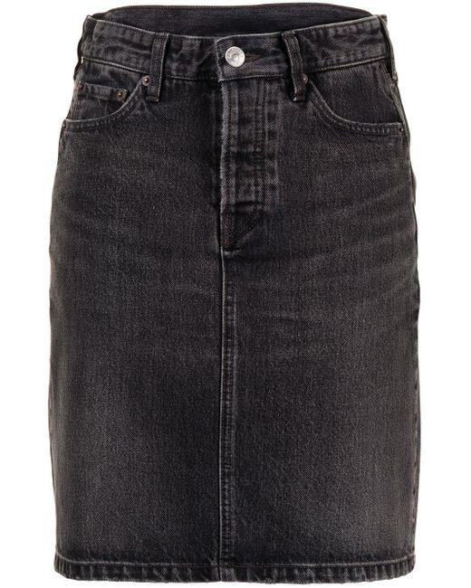 Джинсовая Юбка С Завышенной Талией Balenciaga, цвет: Black