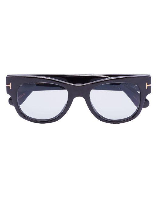 メンズ Tom Ford Ft0487-p スクエアフレーム サングラス Black