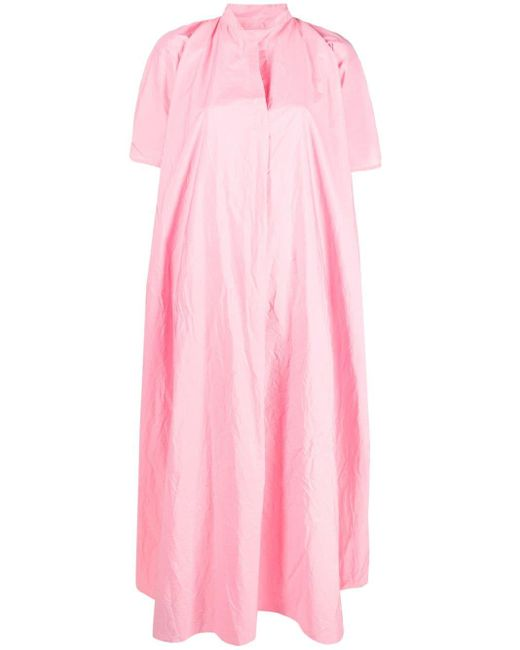 Daniela Gregis テクスチャード ドレス Pink