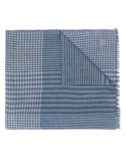 Écharpe à carreaux Ferragamo pour homme en coloris Blue