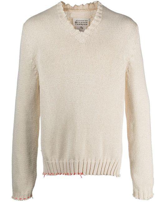 メンズ Maison Margiela リブニット セーター Multicolor