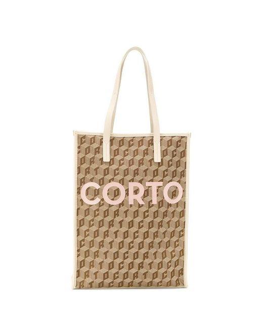 All Over Logo Tote Corto Shopper Moltedo Lyst rdCeWoQBx