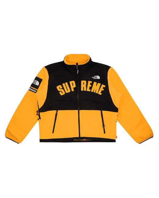 メンズ Supreme X The North Face フリース ジャケット Yellow