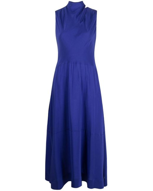 Платье Миди Со Сборками Victoria, Victoria Beckham, цвет: Blue